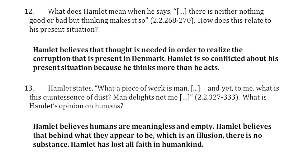 An analysis of hamlet and a man for all season